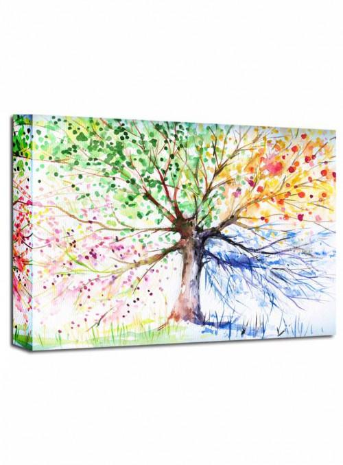 Cuadro Arbol Colores 76x100 cm