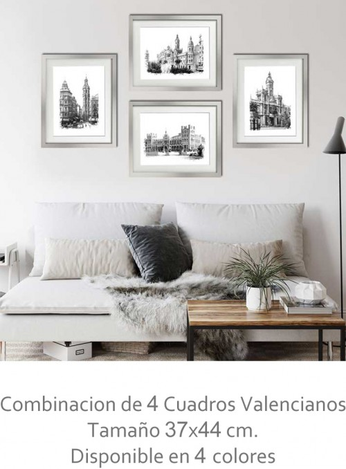 4 Cuadros Valencianos 37x44...