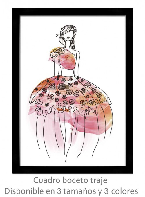 Cuadro boceto vestido