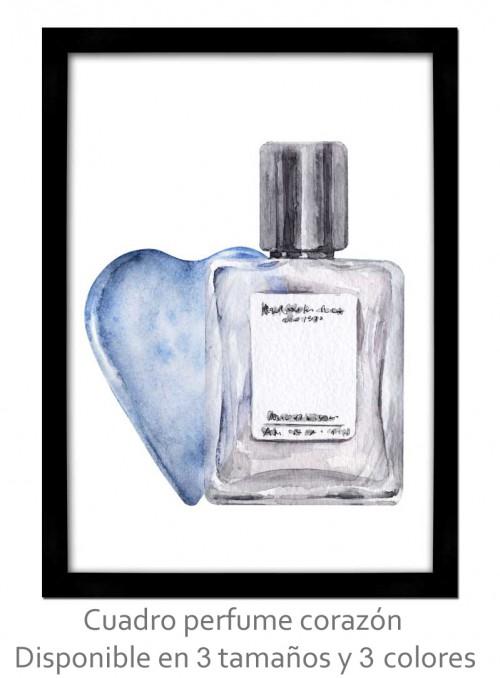 Cuadro perfume corazón vintage